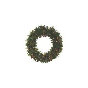 Canadian Pine Artificial Christmas Wreath   Multi Lig