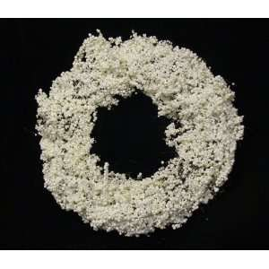 Artificial White Iced Berry Christmas Wreath   Unlit