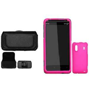 4g Combo Rubber Hot Pink Protective Case Faceplate Cover + Black