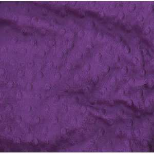 60 Wide Minky Dimple Dot Purple Fabric By The Yard Arts