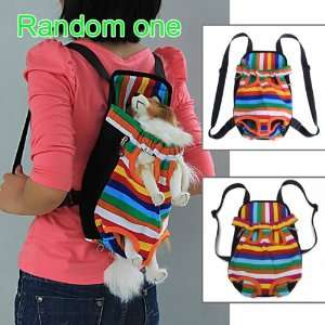Stripes Pet Dog Front Carrier Backpack Bag   Size M