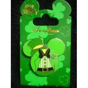 PARKS EXCLUSIVE  St Patricks Day Mickey Mouse Ear Trading Pin Baby