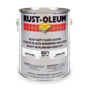 RUST OLEUM S6571413 Floor Coating,1 gal,Dunes Tan