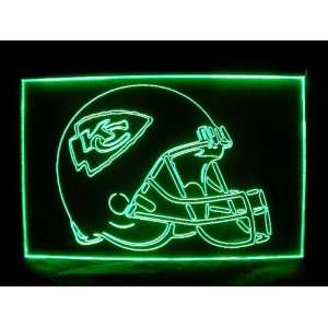 NFL  Kansas City Chiefs Helmet Neon Light Sign  Sports