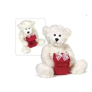 White Valentine Teddy Bear with Red Gift Box Toys & Games