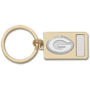 Two Tone (Gold Plated with Nickel Plated Insert) Key Chain Sports