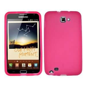 Cell Phone Solid Hot Pink Silicon Skin Case Cell Phones & Accessories