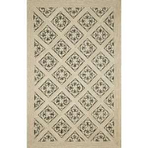 Indoor/Outdoor Hand Tufted Area Rug Ironwork 3 6 x 5 6