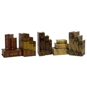 15 Novel Old World Style Decorative Wooden Book Boxes