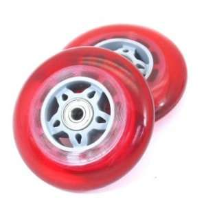 Jaguar Power Sports Kick Scooter Wheel Set Red Sports