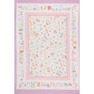 Baby Girl Flannel Panel Pink Fabric By The Yard Arts, Crafts & Sewing
