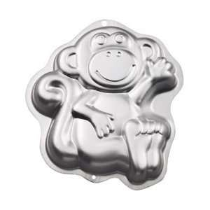 Novelty Cake Pan Monkey 12.75X11.25X2