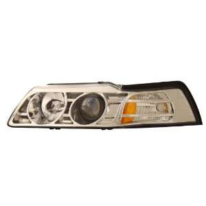 FORD MUSTANG 99 04 PROJECTOR HEADLIGHTS CHROME CLEAR AMBER