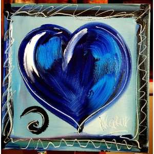 Modern Abstract Contemporary Original Oil Painting HEART Ready to Hang