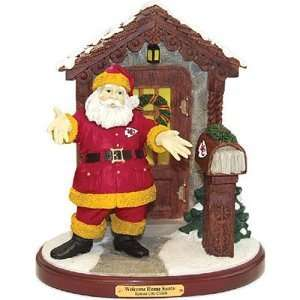 Kansas City Chiefs NFL Welcome Home Santa Figurine
