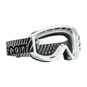 Scott USA Recoil Pro Goggles White Frame with Light Sensitive Gray