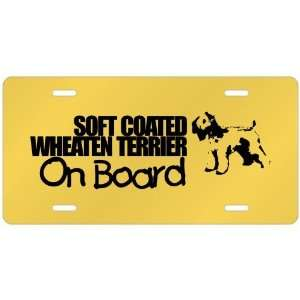 New  Soft Coated Wheaten Terrier On Board  License Plate