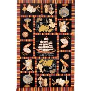 Chelsea   HK207A Area Rug   18 x 26   Black