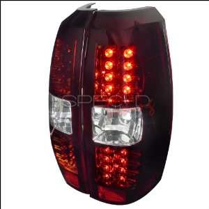 Chevy Avalanche Red Clear Lens Led Tail Lights Automotive