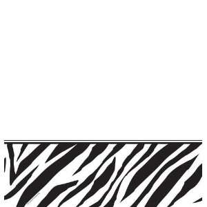 Creative Converting Animal Print Zebra Plastic Table Cover