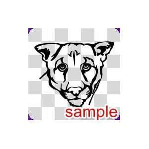 ANIMAL LIONESS HEAD WHITE VINYL DECAL STICKER Everything