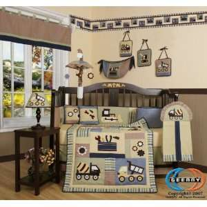 Brand New GEENNY Baby Boy Constructor 13PCS CRIB BEDDING SET Baby