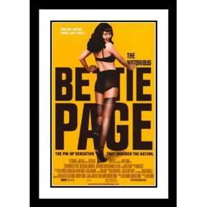 The Notorious Bettie Page Framed and Double Matted 32x45 Movie Poster