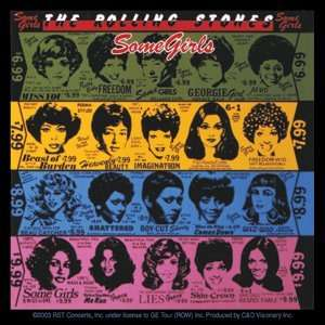 THE ROLLING STONES SOME GIRLS STICKER