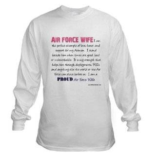 Proud Air Force Wife Custom Junior Fit Bella Crewneck T