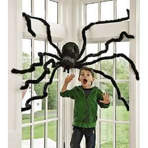 Giant Spider with Posable Legs and Red Eyes That Light Up