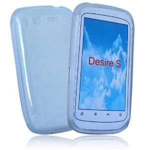 palace  White gel case cover pouch holster for htc desire S