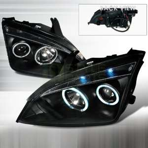 2005 2007 Ford Focus CCFL Halo Projector Headlights Black