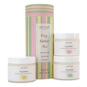 Get Fresh Body Butter Trio  Cucumber Mint Tea, BlackBerry Vanilla and