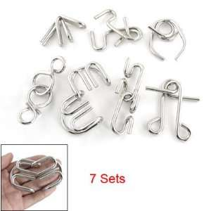 7 Sets Metal Wire Disentanglement Puzzles Games Toy Baby