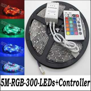 3528 RGB Waterproof Flexible Strip 300 LED Light + 24 key Free Remote