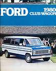 1980 Ford Club Wagon Van Original Sales Brochure Catalo