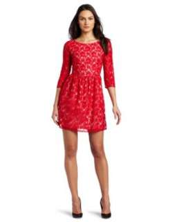 French Connection Womens Lizzie Lace Dress Clothing
