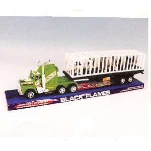 SEMI TRUCK TRANSPORTER WITH FARM ANIMALS   TOY BIG RIG Toys & Games