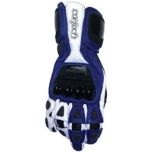 Adrenaline 2 Motorcycle Racing Gloves Blue/White LRG Automotive