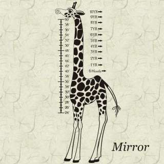 Giraffe Childs Growth Chart Vinyl Wall Sticker Decals