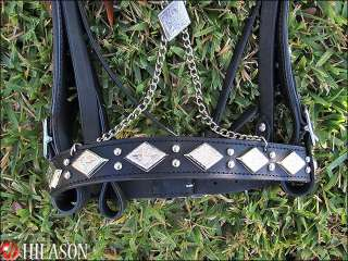 PA195 Tack New Hand Made Parade Show Bridle Headstall Reins