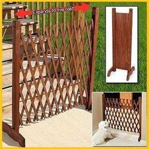 PORTABLE WOOD or WOODEN FENCE CHILD BABY PET KID DOOR GATE