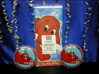 Clifford the BIG Red Dog Tablecloth 2 Cake Toppers New